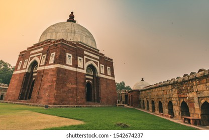 The Tomb of Ghiyas al-Din Tughluq or Ghazi Malik ,the founder of the Tughluq dynasty in India, who reigned over the  Sultanate of Delhi from 1320 to 1325.