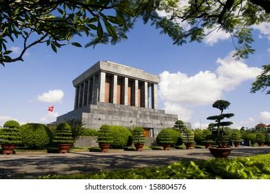 Tomb of Ho Chi Minh in Hanoi, Vietnam