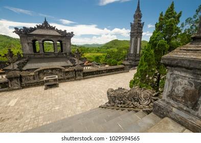 Tomb of Khai Dinh near Hue, Vietnam.