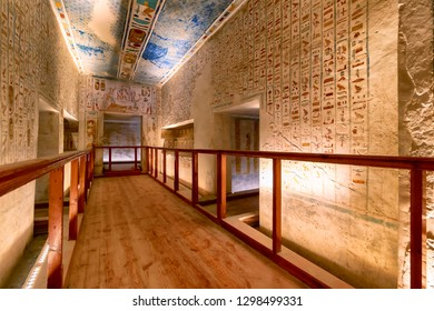 Tomb KV2 in the Valley of the Kings, Luxor, Egypt, is the burial place of Ramesses IV