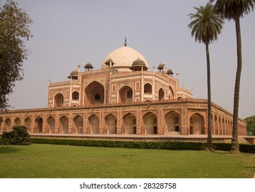 The tomb of the Mughal Emperor Humayun in Delhi, India, a World Heritage Site