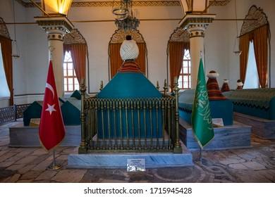 The Tomb of Orhan Gazi in Bursa / Turkey - August 2020