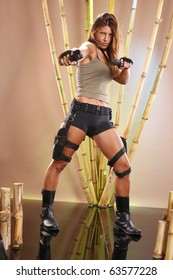 Tomb raider with pistols and holsters