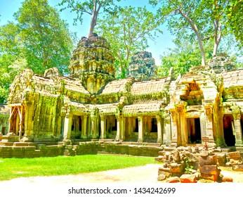 Tomb Raider temple, Angkor Wat, Cambodia, HDR