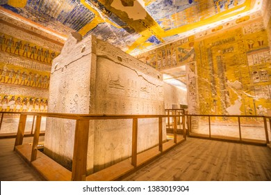 Tomb of Ramesses IV valley of Kings in Egypt