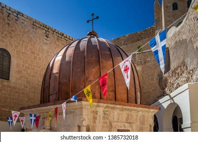 Tomb of Saint Sabbas, Mar Saba. Eastern Orthodox Christian monastery there letter containing Secret Gospel of Mark was found. Located near Jerusalem and the Dead Sea. West Bank, Israel.