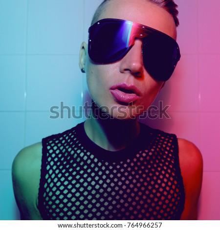 Tomboy Sexy Girl Short Hair Luxury Stock Photo Edit Now 764966257