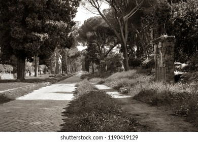 Tombs along the ancient Appianian way in Rome.