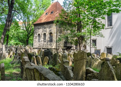 Tombs in the Jewish Cemetery in Prague, Czech Republic