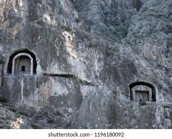 The Tombs of the Kings of Pontus, Amasya, Turkey