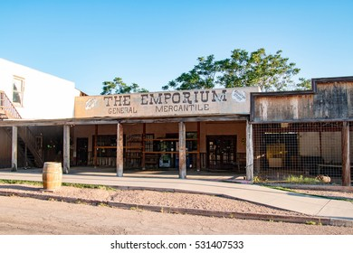 TOMBSTONE, ARIZONA - JULY 8, 2016 -Tombstone is a historic western city in Cochise County, Arizona, United States, founded in 1879 by Ed Schieffelin in what was then Pima County, Arizona Territory.