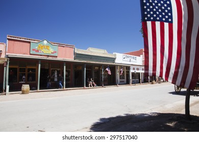 Tombstone, Arizona, USA, April 6, 2015, Western townfront