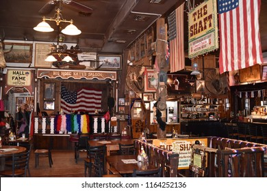 Tombstone, AZ., U.S.A. August 18, 2018.  Big Nose Kate's saloon was originally the deluxe Grand Hotel in 1880 but burned in 1882.  The Grand was not rebuilt.  Kate died in 1940 at 90-years old.