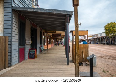 Tombstone, AZ, USA - November 17, 2019: A well known city for its production of silver bullions
