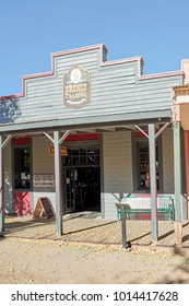 Tombstone, AZ, USA - November 27, 2017: Bronco trading at the Allen Street in the famous Old West town of Tombstone, Arizona. It is a Western apparel store in Tombstone, United States of America