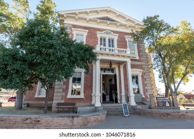 Tombstone, AZ, USA - November 27, 2017: Tombstone Courthouse State Historic Park. It is a state park preserves the original Cochise County courthouse.