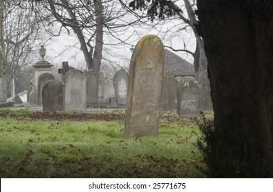 Tombstone in Burwell Cemetery, Cambridgeshire, England