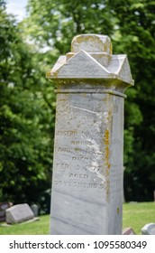 tombstone in a church cemetery - portrait