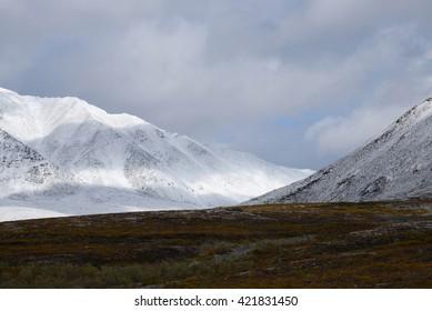 tombstone mountain landscape in yukon