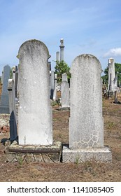 Tombstones in the jewish cemetery