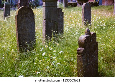 Tombstones at the old graveyard