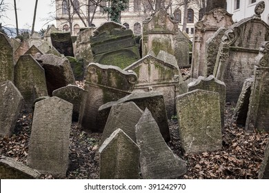 Tombstones in the Old Jewish Cemetery in Prague