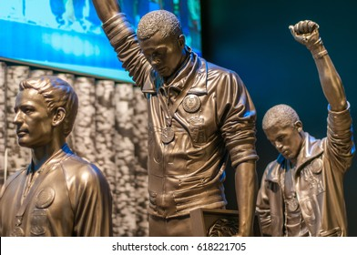 Tommie Smith Statue at National Museum of African American History and Culture in Washington, D.C. April 9, 2017.