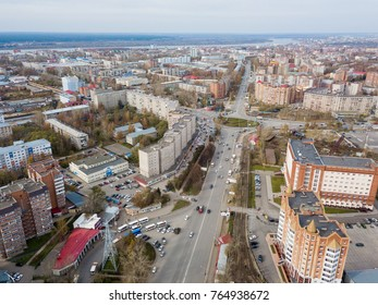 Tomsk cityscape from aerial view
