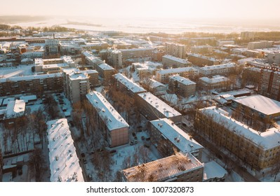 Tomsk cityscape from aerial view. Tomsk, Russia