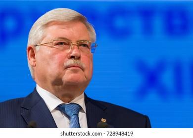 TOMSK, RUSSIA - 18 September, 2017: Governor of Tomsk region Sergey Zhvachkin
