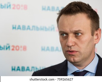 TOMSK, RUSSIA - MARCH 17, 2017: Leader of the Russian opposition Alexei Navalny