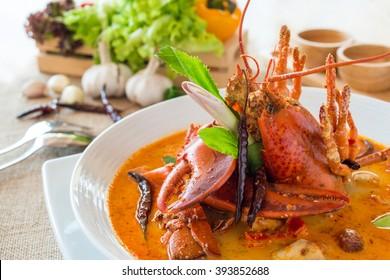 tomyam kung lobster