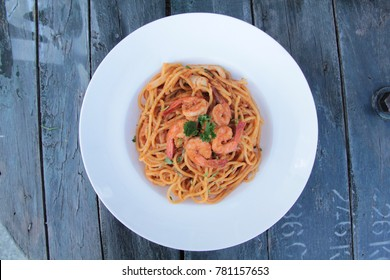Tomyam Spaghetti with prawn