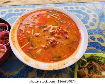 Tomyum seafood, Thailand food Tomyum style.