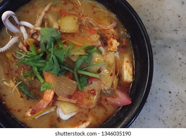 Tomyum the traditional food originated from Thailand
