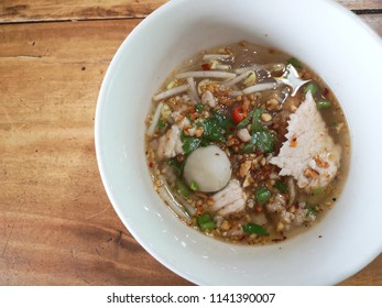 Tomyum,Thai spicy pork noodle,Thai food