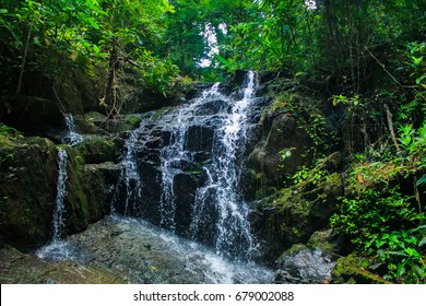 Ton Sai waterfall,in the forest ,Island Phuket , Thailand