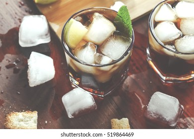 Toned image. rum. Rum, selective focus