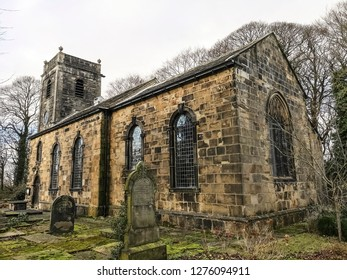 TONG VILLAGE - JANUARY 1, 2019: St James Church is the only identifiable pre-Conquest church in West Yorkshire.Tong Village is a village in the City of Bradford metropolitan district.