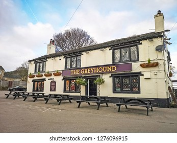 TONG VILLAGE - JANUARY 1, 2019: Local public house.Tong Village is a village in the City of Bradford metropolitan district.