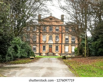 TONG VILLAGE - JANUARY 1, 2019: Tong Hall.Tong Village is a village in the City of Bradford metropolitan district.