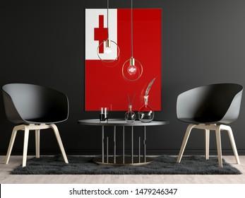 Tonga Flag in Room, Tonga Flag in Photo Frame