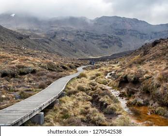 Tongariro Alpine Crossing Soda Springs, one-day hike - New Zealand, NZ