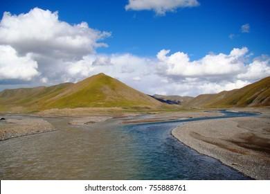 Tongtian River, Yangtze River, Yushu, China