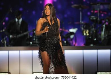 Toni Braxton performs at the BET Presents: 2017 Soul Train Awards in Las Vegas, Nevada on November 5th  2017 at the Orleans Arena