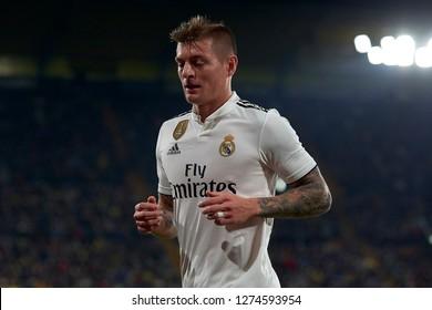 Toni Kroos of Real Madrid during the week 17 of La Liga match between Villarreal CF and Real Madrid at Ceramica Stadium in Villarreal, Spain on January 3 2019.