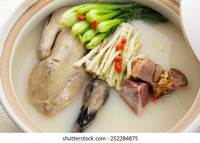 Tonic duck soup, China Cantonese