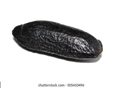Tonka bean (cumaru) seed with white background
