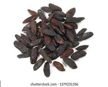 Tonka Beans on white Background