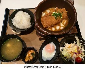 Tonkatsu set is delicious Japanese food